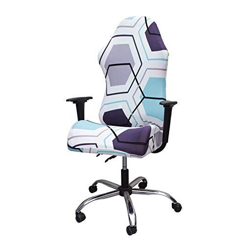 WENBING - Coprisedia da gaming, sedie da ufficio, in tessuto poliestere con braccioli, sedia girevole regolabile in altezza, ergonomica, B