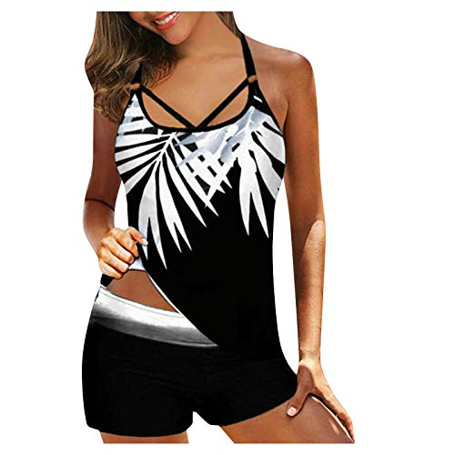 vbnhg Bikini para mujer, triangular, con ribetes de contraste, traje de baño de dos piezas Blanco XXXLarge