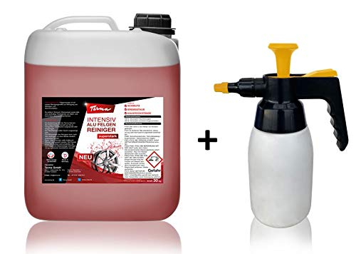 Terma Intensiv Alufelgenreiniger + Pumpsprüher, Aluminium Felgenreiniger (30 Liter Kanister)