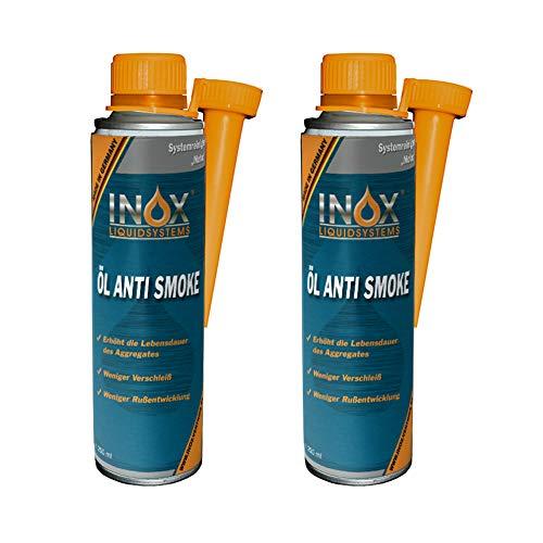 INOX® Öl Anti Smoke Additiv, 2 x 250 ml - Zusatz verringert Rauch- und Rußbildung bei Allen 4-Takt-, Diesel- und gasbetriebenen Motoren