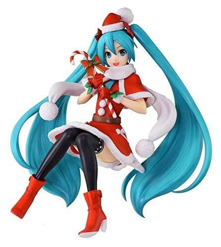 XIAOGING Hatsune Miku Súper Premium Figura de acción de Navidad