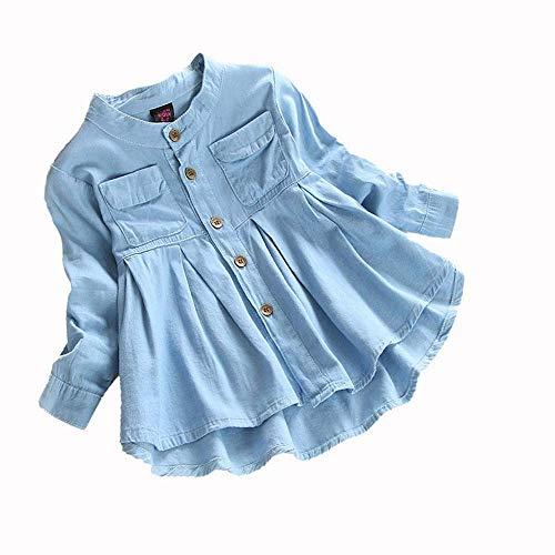 Mädchen Kleider Festlich, Weant Baby Kleidung Mädchen Outfits Denim mit Tasten Tops Prinzessin Kleider FüR Kinder Mädchen Kleidung Partykleid Chiffon Kleid Baby Tägliche Kleidung Pullover