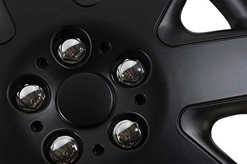 UKB4C - Juego de 4 tapacubos de 15 Pulgadas, Color Negro: Amazon ...