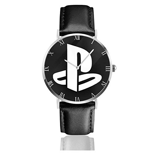 Armbanduhr Wrist Watch Analog Quarz mit PU-Armband für Playstation