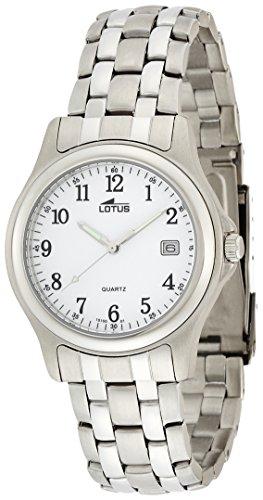 Lotus Reloj Analógico para Hombre de Cuarzo con Correa en Acero Inoxidable 15150/A