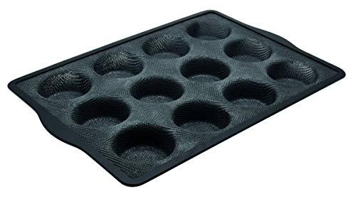 Zenker 685543 Moule 12 Muffins en Silicone Fibre de Verre, moule à muffins par 12, moule à 12 muffins, Silicone fibre de verre, Gris, 36,3 x 26 x 3 cm