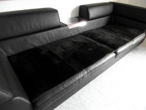 Förster-Fellnest Tolle echt Lammfell Couchauflage und/oder Sesselauflage in braun/Dunkelbraun - Gemütliche Sitzauflage als Sesselschoner oder auch als Teppich und Dekofell