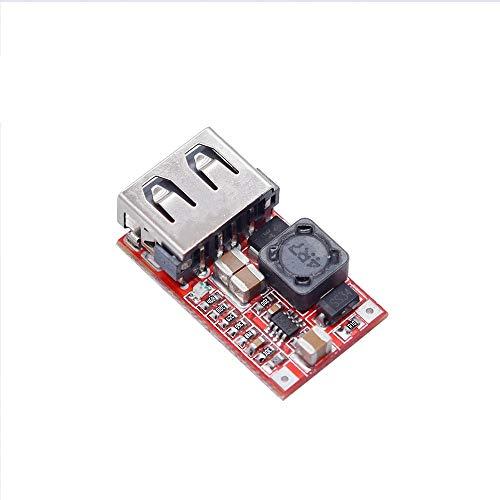 Módulo de fuente de alimentación 6-24V 24V 12V a 5V USB Paso reduce el módulo de alimentación del módulo convertidor DC-DC cargador del teléfono de la energía del coche Módulo ajustable