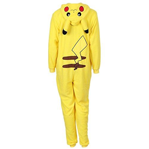 Pokemon Pikachu Ganzkörper Schlafanzug, Schlafoverall, Onesie, Einteiler - 4
