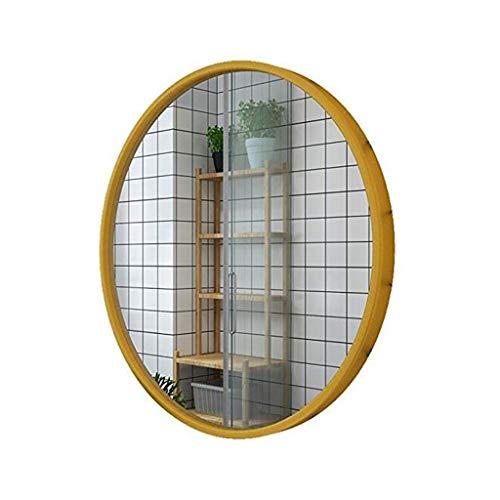 Zfggd Grand Miroir Rond de Support de Mur encadré par métal Moderne Moderne, Miroir décoratif surdimensionné pour Le Salon ou la Salle de Bains - 3 Couleurs, 3 Tailles (Color : Gold, Size : 60cm)