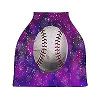 野球パープルベビーカーシートカバーキャノピー伸縮性看護カバー幼児用母乳の男の子の女の子のための通気性防風冬のスカーフ