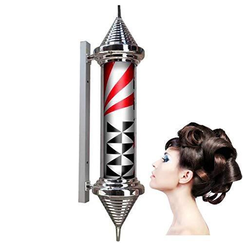 35in LED Poteau Barbier Coiffeur Enseigne Lampe Salon Équipement Rayures Lumineuse & Pivotante Lumière Coiffeur Boutique Signe/A