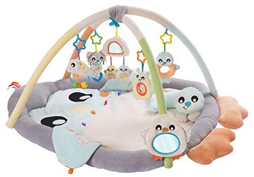 Playgro Spiel- und Krabbeldecke Pinguin für Babys mit Erlebnis-Spielbogen, Ab 0 Monate, 40220, mehrfarbig