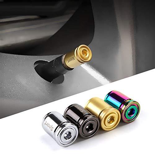 WBNCUAP Tapas De VáLvulas De NeumáTicos 1sEset Car Styling Aleación de Zinc Anti-Robo Deporte Coche Válvula Tapa Neumáticos Neumáticos Neumático Tallo Tapa de Air Cubiertas de Air Portadas para Autos