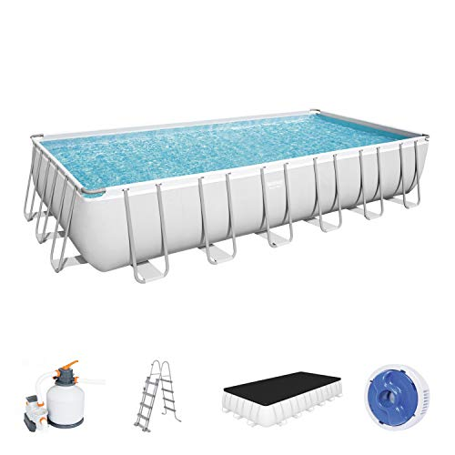 Bestway Piscina Power Steel Frame Rectangular 732X366X132 FUORITERRA, Color