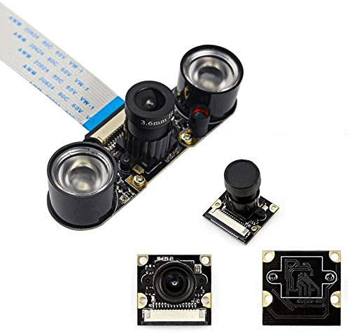 Longruner for Raspberry Pi 4 Camera Module 5MP 1080p OV5647 Sensor HD Video Webcam Supports Night Vision For Raspberry Pi 4 3 model B B+ A+ RPi 2 1 Kamera LSC15