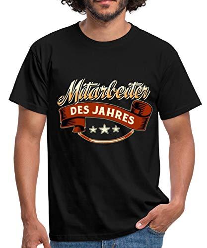Spreadshirt Mitarbeiter des Jahres Rahmenlos Geschenk Männer T-Shirt, L, Schwarz