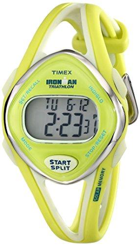 Timex Women's T5K656 Ironman Sleek 50 Mid-Size Lime Resin Strap Watch