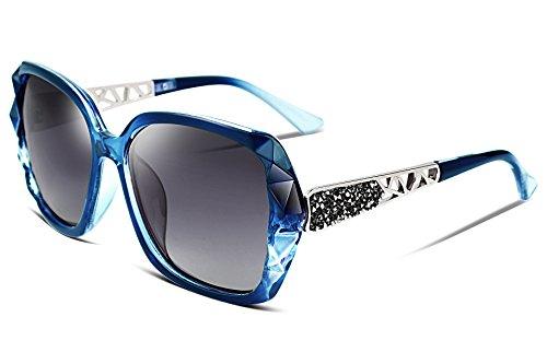 FEISEDY Occhiali da sole donna Scintillante cornice Composita Polarizzati UV400 Protezione Lens Designer Occhiali da Sole Grandi Donna B2289