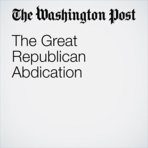 The Great Republican Abdication copertina