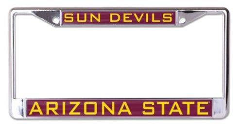 NCAA Arizona State University ASU Sun Devils 6 x 12 Inlaid Acrylic/Metal License Plate Frame