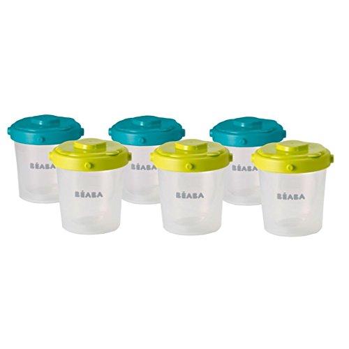 Beaba Clip - Recipiente conservazione omogeneizzati per tenera età, 6 porzioni, 200 ml, multicolore