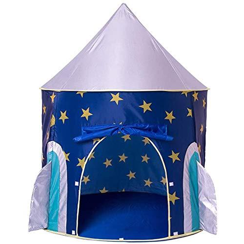 Heimgebrauch Rakete Spielzelt Prinzenschloss Zelt für Jungs Kleinkinder Spielhaus für Innen und Außen tragbares Pop-Up Indianerzelt Tipi mit Tragetasche Geschenk für Kinder Spiel