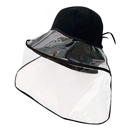 FEYTUO Sombrero Protector Anti-Escupir Protective Cap Sombrero De Pescador Cubierta Protection Safety Full Face Shield For Men Women Anti-Fog Breathable