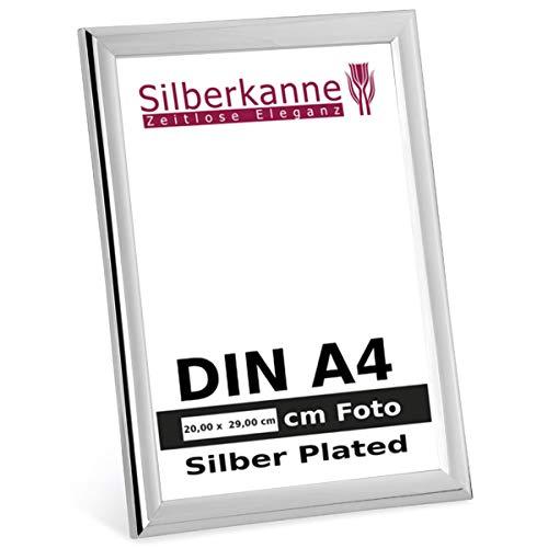 silberkanne Bilderrahmen Paris DIN A4 für Zertifikate und Urkunden 20,0x29,0 cm Foto Silber Plated versilbert