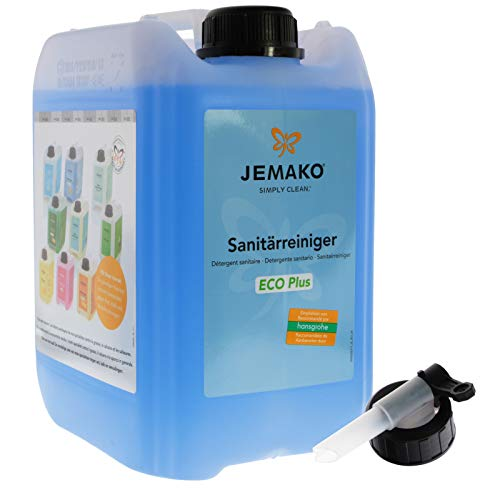 Jemako Sanitärreiniger ECO Plus, 5 Liter Kanister inkl. Auslaufhahn