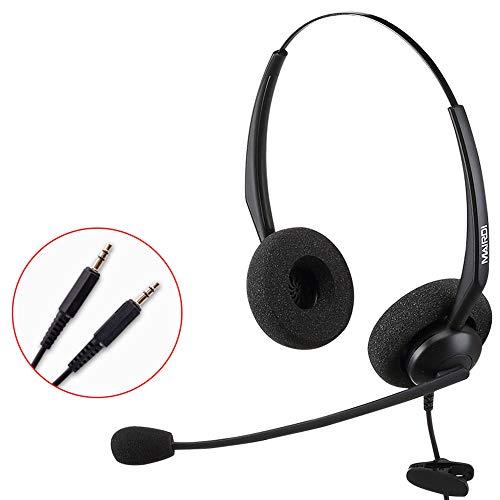 USB-Headset Met Ruisonderdrukking Van Microfoon En Audiobediening Breedband-Pc-Headset Voor Bedrijven UC Skype Lync Softphone Callcenter Kantoorcomputer,3.5 dual socket