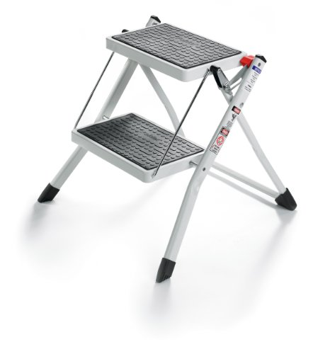 Polder 90401-91H Mini 2-Step Stool, 17' High, 225 lb. (102 kg.) Capacity, White