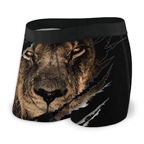 Calzoncillos Boxer para Hombre Shorts Lion Inside Claw Vintage Ripped Soft Underwear Graphic Calzoncillos de Novedad