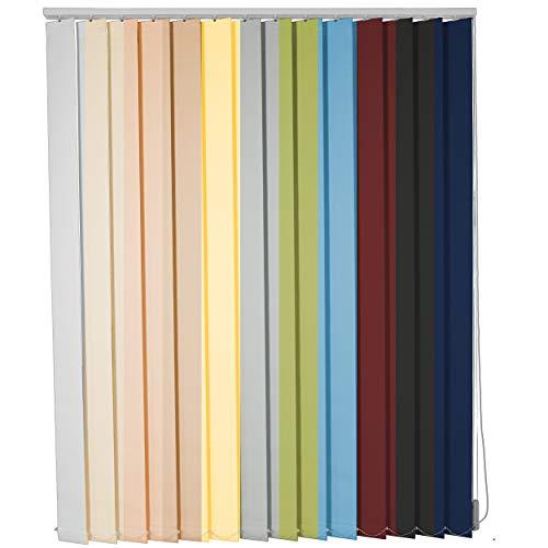 etusimo Lamellenvorhang auf Maß Vertikaljalousie viele Größen und Farben Stoff Blickdicht lichtdurchlässig Tür Fenster Lamellen Rollo Schiebegardine (Breite 40-60 cm x Höhe 60-80 cm, Weiß)