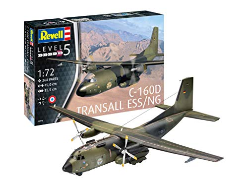 Revell RV03916 14 Modellbausatz C-160 Transall Eloka im Maßstab 1:72, Level 5, Multicolour