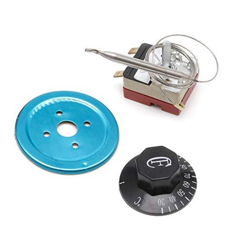 Bilinli Controlador de Temperatura 250V 16A 30-110 Celsius Perilla del termostato Interruptor capilar
