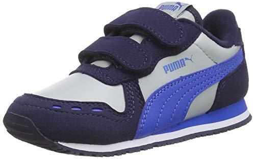PUMA Unisex bebé Cabana Racer Sl V Inf Zapatillas, Gris (High Rise/Peacoat/Palace Blue 82), 26 EU