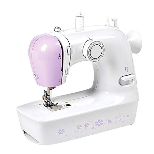 Mini Electric Sewing Machine,Portable Electric Adjustable 2-Speed Double Thread Sewing Machine Easy To Use Free Arm Perfect for Beginners Sewing Made Easy