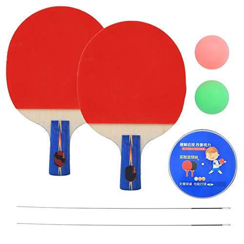 Buy Discount Table Tennis Trainer, Ping Pong Paddle Set with Elastic Soft Shaft Ping Pong Balls Indo...
