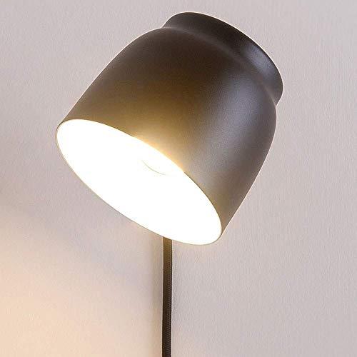 Beautiful Home Lighting/leeswandlamp Moderne Edison-wandlamp binnenverlichting lamp wandlamp dimbare zwarte wandlamp met snoer draaibare wandlamp voor slaapkamer woonkamer