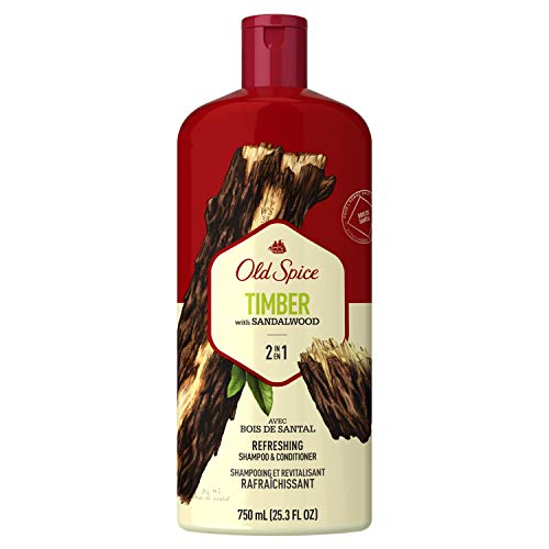Old Spice Timber with Mint 2in1 Shampoo and Conditioner, 25.3 Fl Oz (Pack of 4)