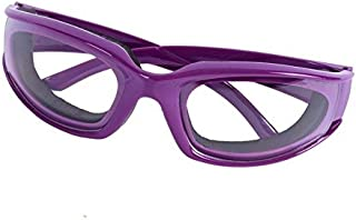 Happy Hours - Kitchen Tools Premium Tear Free Onion Goggles Slicing Cutting Chopping Mincing Eye Protect Onion Glasses (Purple)