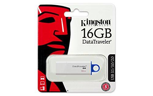 Lecteur Flash USB Kingston Digital Bleu 16GB Traveler DTIG4 3.0 - 5