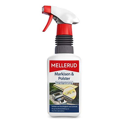 MELLERUD Markisen & Polster Imprägnierung – Effizientes Mittel zum Schutz vor Feuchtigkeit und Schmutz von Textilien im Innen- und Außenbereich – 1 x 0,5 l