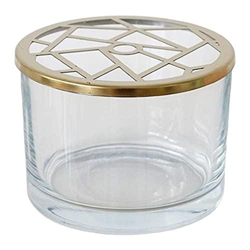 Fenteer Jarrones de Flores Transparentes Florero hidropónico de Vidrio de Cristal Grueso Alto con Tapa Irregular para arreglos Florales Decoración de Bodas en - Tapa Irregular 10cm