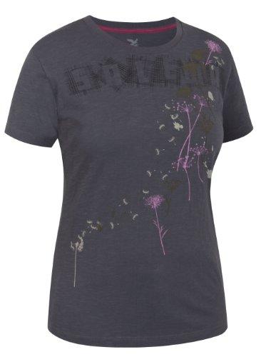 Salewa 00-0000022840 T-Shirt en Coton pour Femme Kerbel Carbone 34