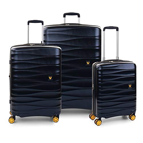 RONCATO Stellar Set 3 maletas rígidas expandibles 4 ruedas Tsa Azul marino