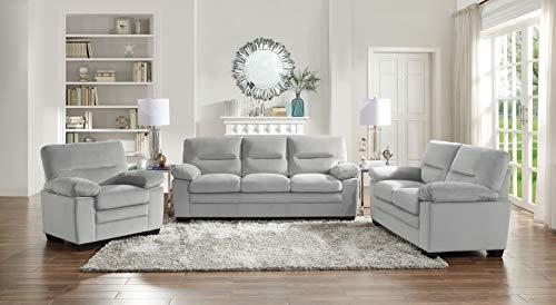 Lexicon Dawson 3-Piece Living Room Set, Gray