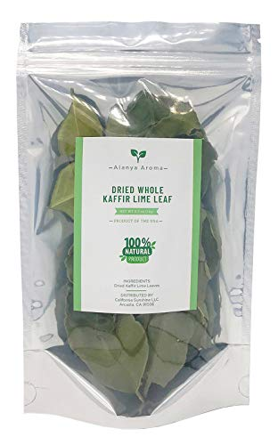 Dried Kaffir Lime Leaves, 0.5 Oz, Grown in California