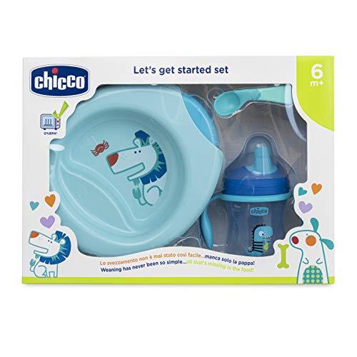 Chicco 00016200200000 Set de Comida, 6 Meses +, Azul
